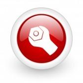 17977947-werkzeuge-roten-kreis-glossy-web-symbol-auf-weissem-hintergrund